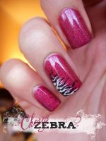 cherry zebra by NailsyMo