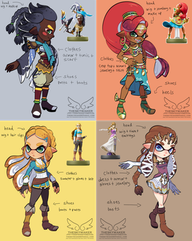 Amiibo Inkling Concepts Part 2 (9 15 2017) by theskywaker