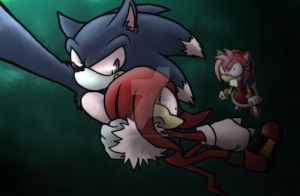 AT: Sonic the werehog x Knux by Rilakkuma-kun