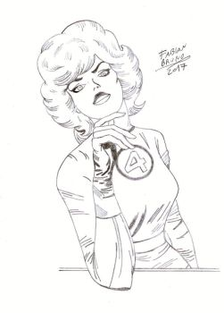Sue Richards (Invisible Girl) - Jack kirby Tribute by FabianBruno10