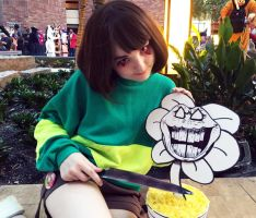 Chara from Undertale (Cosplay) (A-Kon 27) (02) by lost-lillith