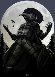 Plague Doctor XXI century by GreenFireArtist
