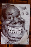 Louis Armstrong caricature by lufreesz