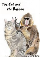The cat and the Baboon. by kay85905921