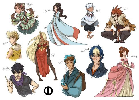I Accidentally All the Gijinkas by Turtle-Arts