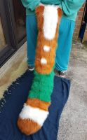 Floor Dragger Brown And Green (Open) by Kawaii-fur-costumes