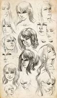Syn - sketchy expressions by LauraPex