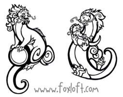 Guardian Otter Tattoos by Foxfeather248