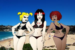 Hex Girls At The Beach by ARTIST-SRF