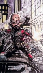 Suicide Squad Minis: Deadshot by BluBoiArt