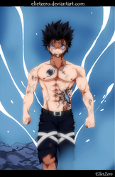 Fairy Tail 499 Gray Fullbuster Colored by ElietZero