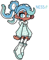 Redesigned Splatsons: Ness by DINKY-INK