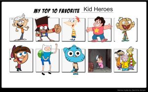 My Top 10 Favorite Kid Heroes by Bart-Toons