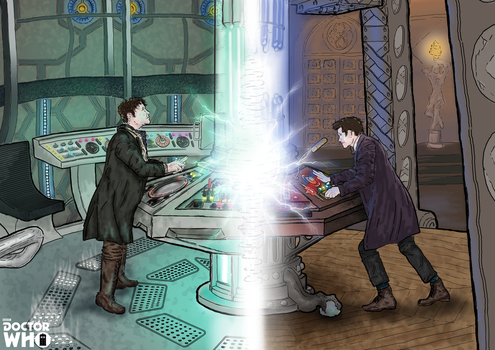 8th and 11th Doctor   TARDIS Fracture by theDoctorWHO2