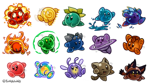 Kirby Ate a Bunch of Slimes by TinklyWinkly