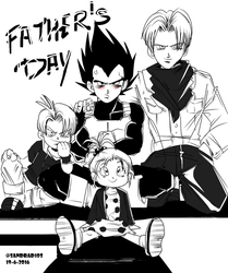 HAPPY FATHER'S DAY vegeta by Sandra-delaIglesia