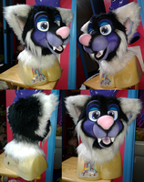 SOLD- Purple Dog Head by Cavity-Sam
