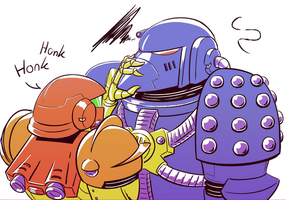 Samus bullies a Beakie by cannibal-sarracenian