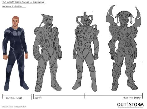 Out of the Storm - Early Concept Design-Line Work by Cedirvin