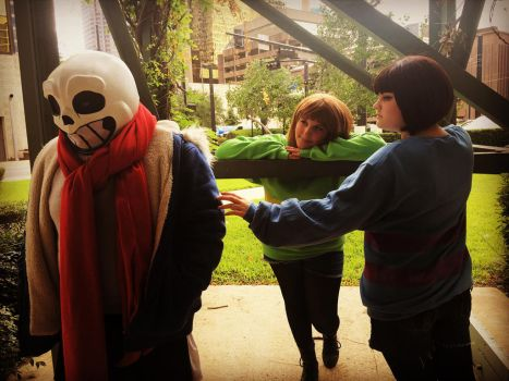 Wanna have a bad time? (Undertale cosplay) by AlternianButterfly