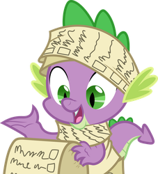 Vector #678 - Spike #19 by DashieSparkle