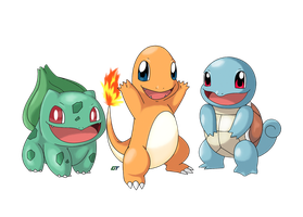 Pokemon Generation 1: Kanto Starter (Remake) by GTS257-CT