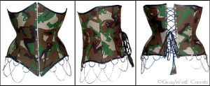 Camouflage Underbust by GrayWolfCorsets