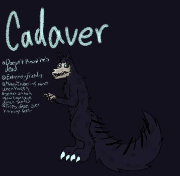 reference sheet for cadaver my oc by rayne170