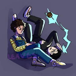 Mob and Eleven by dragonleaf1123