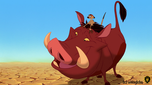 Timon and Pumbaa by unitedcba