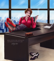 Veronica Reese Office OC - Commission by LadyKraken