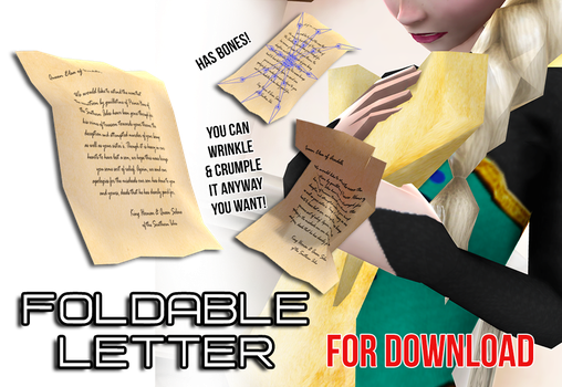Foldable Letter/Paper- with bones [DL] by wintrydrop