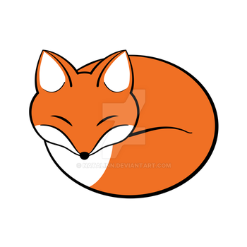 Sleeping fox by natalinn