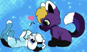 .:RQ:. Awww wuv by LarabelleFurrypaws