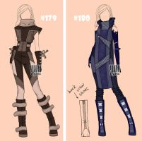 [closed] Auction post apocalypse Outfit 179-180 by YuiChi-tyan