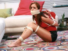 Mercedes Delane: Bound and Gagged Babysitters by Finisterboy