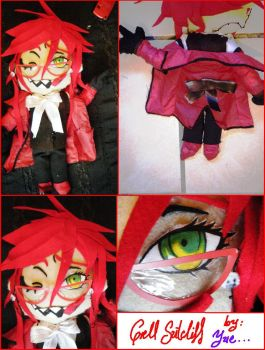 Grell Sutcliff plushie by PlacebicYue