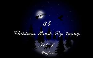 34 Christmas brush set 1 by 7nany