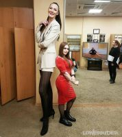 Tall girl compare by lowerrider