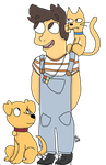 Me with Rover and Links by prxncekevin