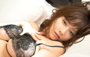 Anri Sugihara - sultry black lingerie 3 by Anri-Sugihara