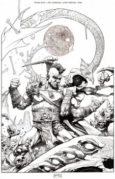 Dark Sun cover I: Ink version by andybrase