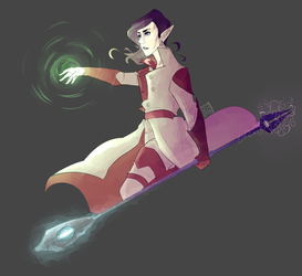A mage with power by Jellygraphic