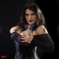 Leather and lace by Morganlefey86