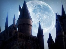 Skies Over Hogwarts v2 by Ciarrai-Manning1852