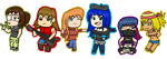 Julia and Friends Chibis by fretless94