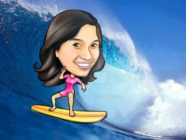 Digital Caricature for Gena by melcasipit