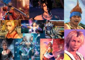 Collage Of Final Fantasy X+X2 by Fireflyhikari