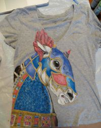 Armored Carousel T-shirt by Barefoot-Seeker