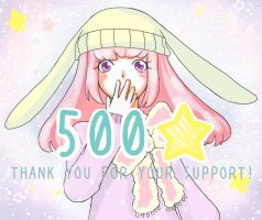 500 likes on my facebook page! by MieAka